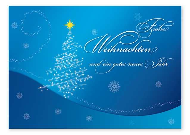 "Weihnachts-Postkarte ""blue christmas"""
